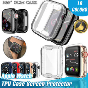 Apple Watch Series 6 5 4 3 2 TPU Case 42/38/40/44mm Slim Screen Protector iWatch