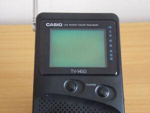 CASIO LCD COLOR TV Model TV-1450 UHF VHF. Analog Mini Television 2.5 Inch