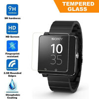 Ultra-Thin 9H 2.5D Tempered Glass Screen Protector For Sony SmartWatch SW2 Lot