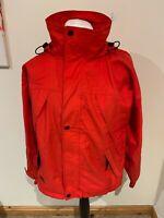 Mens Red Helly Hansen Hooded Zip Jacket / Coat - Size Medium (M) J42