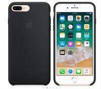 For Apple iPhone 7 Plus iphone 8 Plus OEM GENUINE ORIGINAL Silicone Case  BLACK