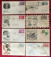 FIRST DAY COVERS 1932 to 1955 - 8 DIFFERENT GREAT COVERS