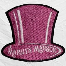 Marilyn Manson Top Hat Logo Embroidered Patch & Spooky Kids Smells Like Children