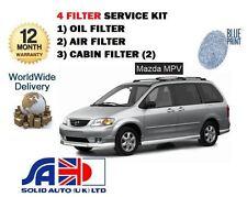 FOR MAZDA MPV 2.0 2000-2002 NEW SERVICE KIT OIL AIR CABIN ( 4 ) FILTER SET