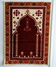 Vtg 1977 Portuguese Pano Oracao Prayer Wall Hanging Wool Tapestry Punch Needle