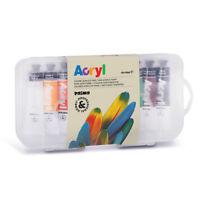 10 tubi di colore acrilico fine Acryl morocolor 18 ml, confezione di plastica