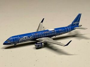 """Ultra Rare find! JetBlue ERJ-190 """" Blue Print """" Geminijets 1/400 Embraer Gemini"""