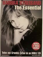 "Barbra Streisand Essential Barbra Streisand Spanish Promo Poster Rare 19 x 27"""
