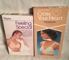 2 Vtg NOS 38C Bra lot PLAYTEX FEELING SPECIAL 603 Beige CROSS HEART SOFE SIDER