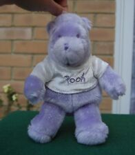 Disney Store Purple Glitter Winnie the Pooh Plush Soft Toy - A.A Milne - UK