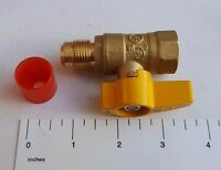 "10) 5/8"" FLARE X 1/2"" IPS BRASS GAS BALL VALVE 1/4 TURN - PROPANE, NATURAL GAS"