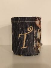 "Brand New In Pkg ""T"" Monogrammed Camo Koozie Drink Holder"