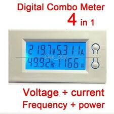 AC 220v 380v 100A LCD Spannung + Strom + power + Frequenz Digital Combo Meter