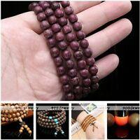 Fashion Buddhist Buddha Prayer Mala Natural Wood Round Beads 4-Row Bracelet Gift