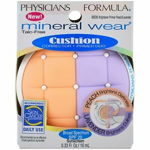 Physicians Formula Mineral Wear Cushion Corrector + Primer Duo Peach/Lavender