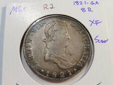 R2 Mexico 1821-Guadalajara 8 Reales XF SCARCE