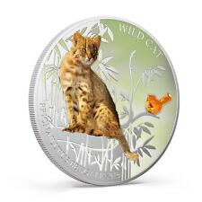 Fiji 2013 Wild Cat III Prionailurus Bengalensis Dogs & Cats 1 Oz Silver Coin