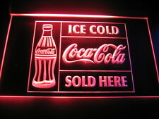 W2104 B Coca Cola Sold Here Decor LED Light Sign