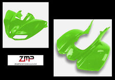 NEW KAWASAKI KFX 700 PLASTIC GREEN FRONT AND REAR FENDER SET PLASTICS