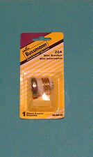 Bussmann 20 amp mini breaker circuit house fuse edison base screw in resettable