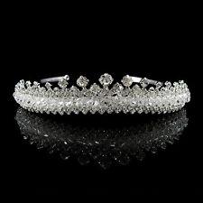 Voll Strass Königin Hochzeit Braut Haarschmuck Haarreif Krone Diademe Tiara