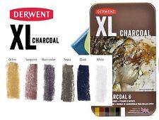 Derwent XL Charcoal Blocks - Tin of 6