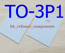 50 pcs Heat Sink Pad TO-3P1 17x22mm Transistor Insulator Silicone Rubber Sheet