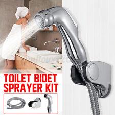 Stainless Steel Handheld Bidet Spray Shower Head Toilet Shattaf Adapter Hose Kit