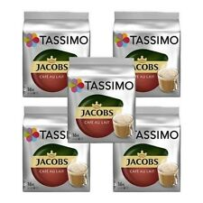 5 Packs Tassimo Jacobs Café Au Lait T Discs Pods - 80 Drinks Cafe Au Lait