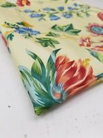 """BRUNSCHWIG & FILS """"FRITILLAIRE"""" YELLOW FLORAL COTTON FABRIC SAMPLE 47"""" x 54"""""""