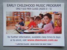 Early Childhood Music Program DSE Music Tuition Brochure Postcard