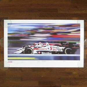 ANDRETTI / MANSELL / CARL HAAS - VINTAGE 1993 SIGNED / AUTOGRAPHED LITHOGRAPH