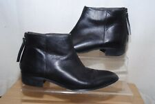 John Lewis Ladies Black Leather Ankle Boots Uk Size 7 / 40