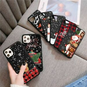 Merry Christmas Phone Case For iPhone Cute Cartoon Back Shell Winter Holiday