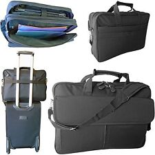 Large laptop briefcase shoulder messenger cabin travel bag with compartments 17""