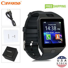 Black DZ09 Bluetooth Smart Watch Phone + Camera SIM Slot For Android IOS Phones