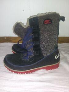 Sorel Women's Sz 9 Tivoli High II Herringbone Insulated Winter Boots - Pre-owned