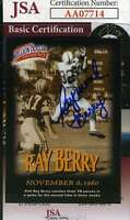 Raymond Berry 1997 Fleer Jsa Coa Hand Signed Authentic Autograph