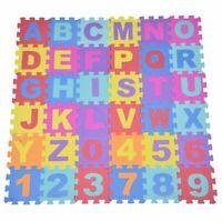 2X(36Pcs bebe doux tapis de jeu en mousse EVA, Puzzle alphanumeriques pour Z1M4