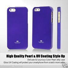Genuine Mercury Goospery Metallic Purple Jelly Case Cover for iPhone 5/5s & SE