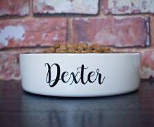 Large 25cm dog bowl personalised ceramic bowl hand Painted dog feeder pet bowl