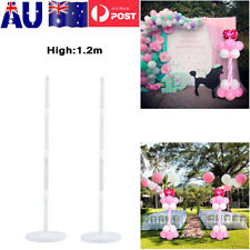 2x 1.2m Balloon Column Base Stand Display Kit Wedding Birthday Party Decoration