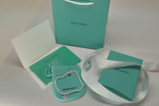 Tiffany & Co. Sterling Silver Heart Tag Enamel Bracelet with Box