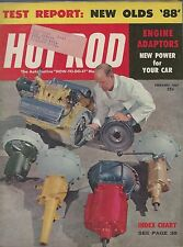 HOT ROD Magazine / February 1957 / Engine Adaptors / New Olds '88 / So Cal Drags