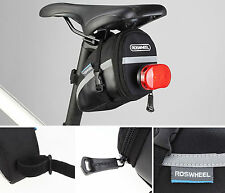 Bicycle Saddle Bag Road Bike Pouch Cycling Seat Bag Black Rear Seatpost Panniers