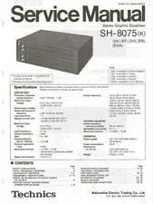 TECHNICS - SH 8075 - EQUALIZER - SERVICE MANUAL IN COLOR VERSION - REPAIR -