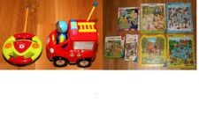 Konvolut aus 8 Puzzles und ferngesteuertes Feuerwehrauto für Kleinkinder