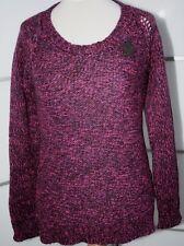 Maison Scotch Woll Pullover mit Lurex Gr. 4 DG ca. 42 Beere NEU