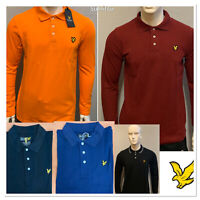 LYLE AND SCOTT LONG SLEEVE REGULAR FIT POLO SHIRT FOR MEN PERFECT IN WINTER