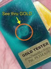 Gold Tester-Credit Card Size-Fits in Your Wallet-Easy to use-Is the GOLD SOLID?